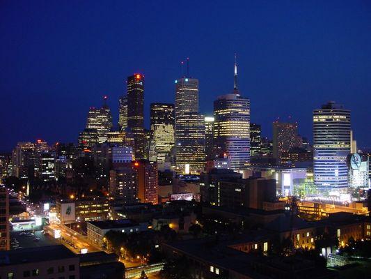 Skyline Toronto bei Nacht