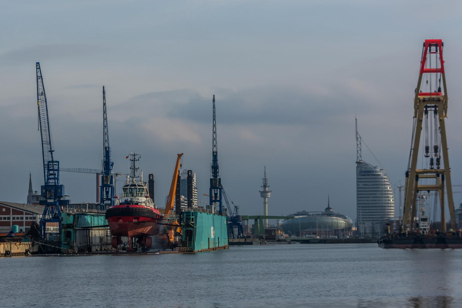 Skyline und Schiffbau