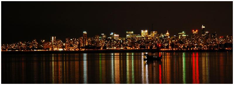 Skyline Vancouver at night