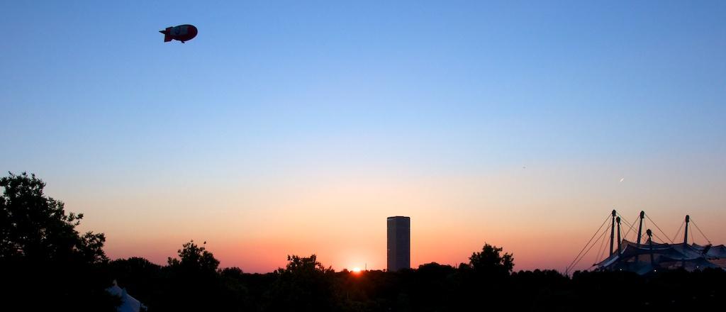 Skyline vom Olympiapark (München)