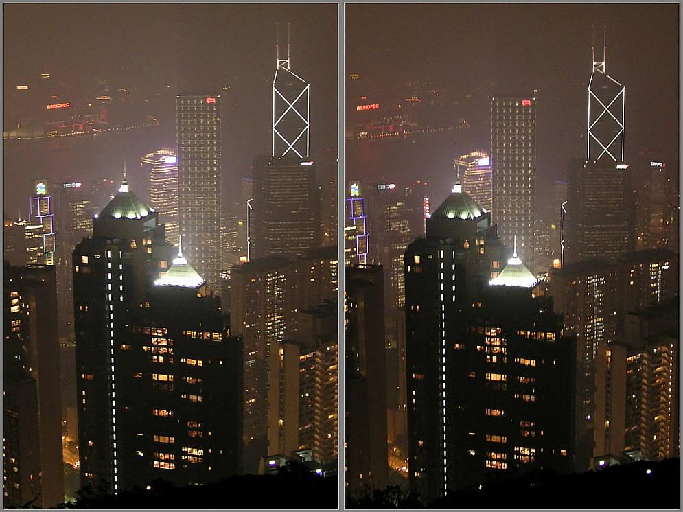 Skyline vom peak in 3D