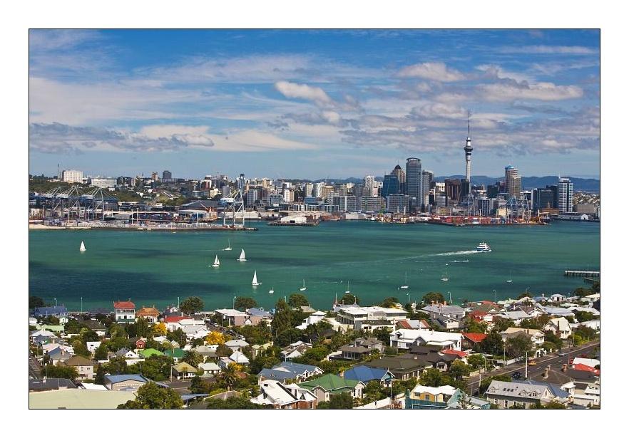 Skyline von Auckland / Neuseeland