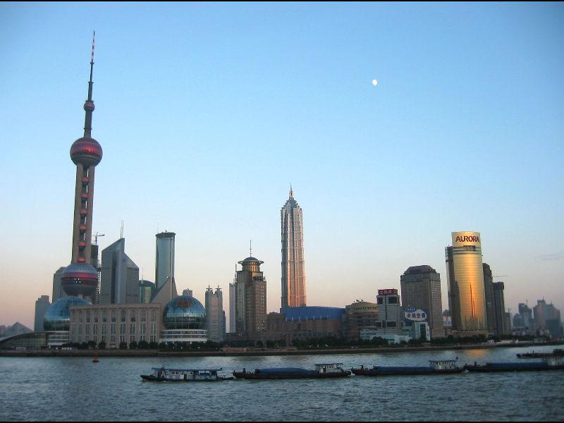 Skyline von Pu Dong