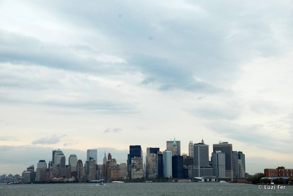 Skyline von Staten Island Fery aus