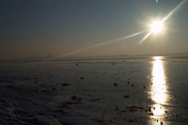 Skyline von Stralsund bei Sonnenuntergang!