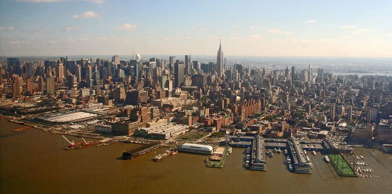 Skyline vor dem Hudson-River