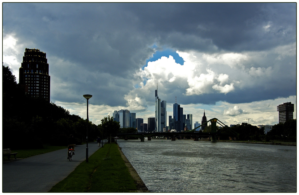 Skylines in Frankfurt am Main.