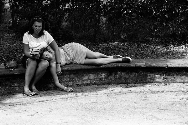 Sleeping in Borghesse Park, Rome