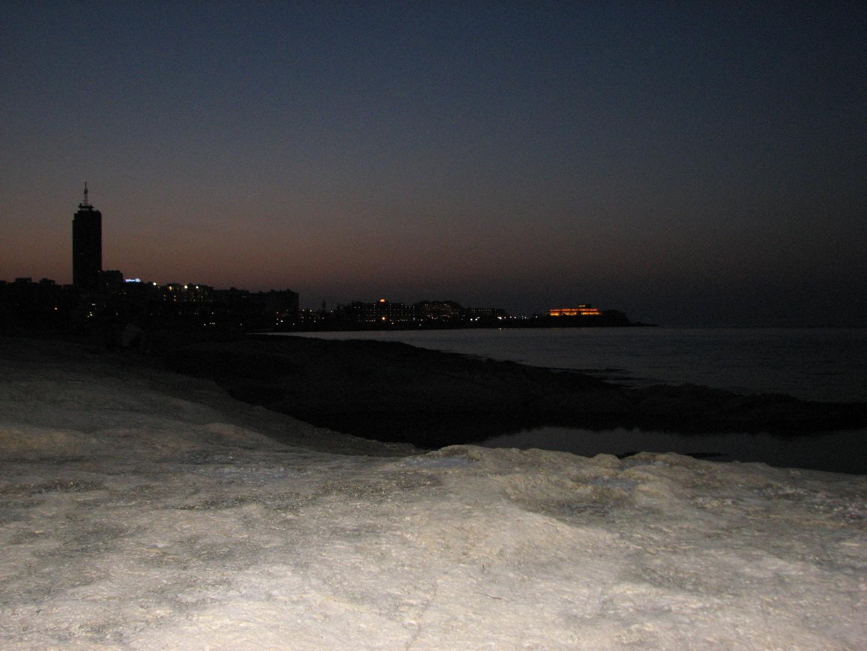 Sliema bei Nacht