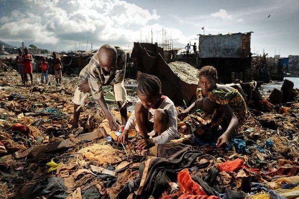 Slums von Sierra Leone