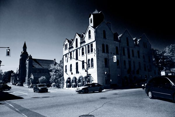 small town ontario - the hotel & the church