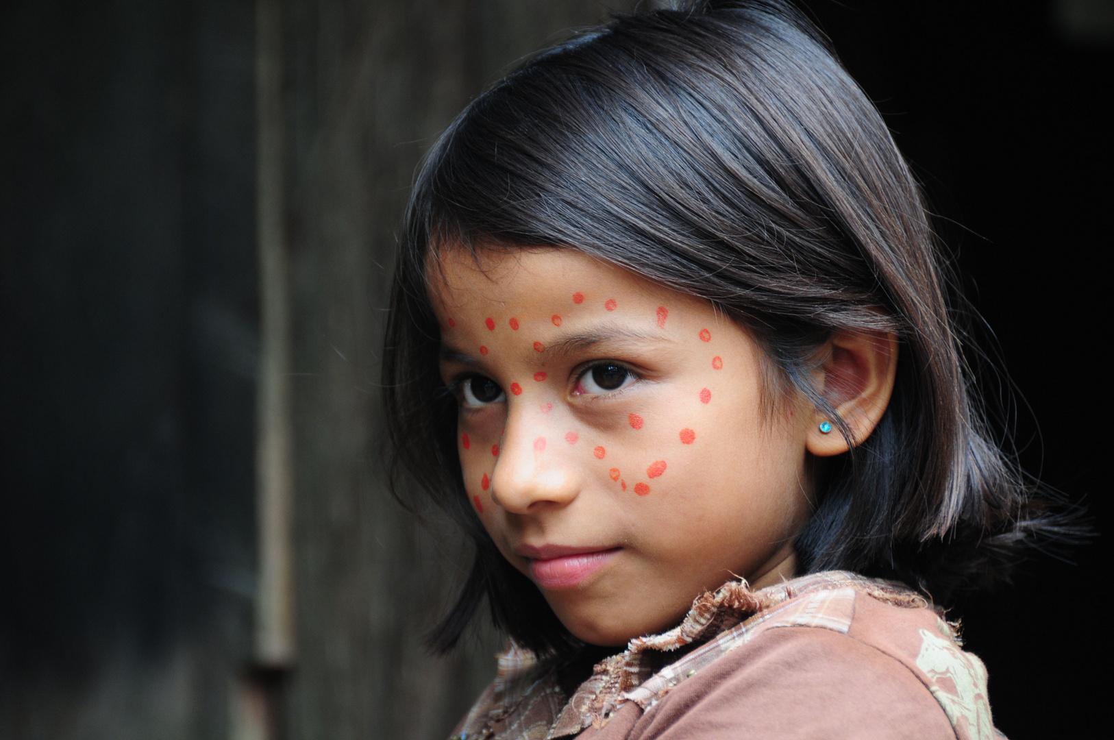 Smart Girl - Cofan Tribe, Cuyabeno, Ecuador