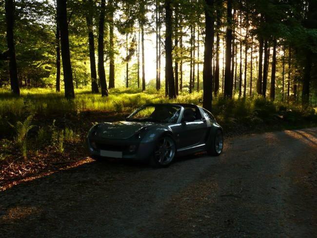 Smart Roadster Coupe Sonnenuntergang