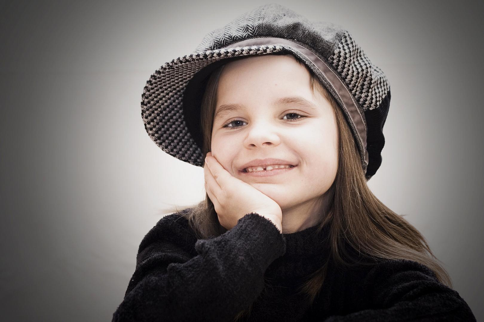 __ smiling __