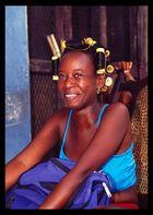 smiling black woman