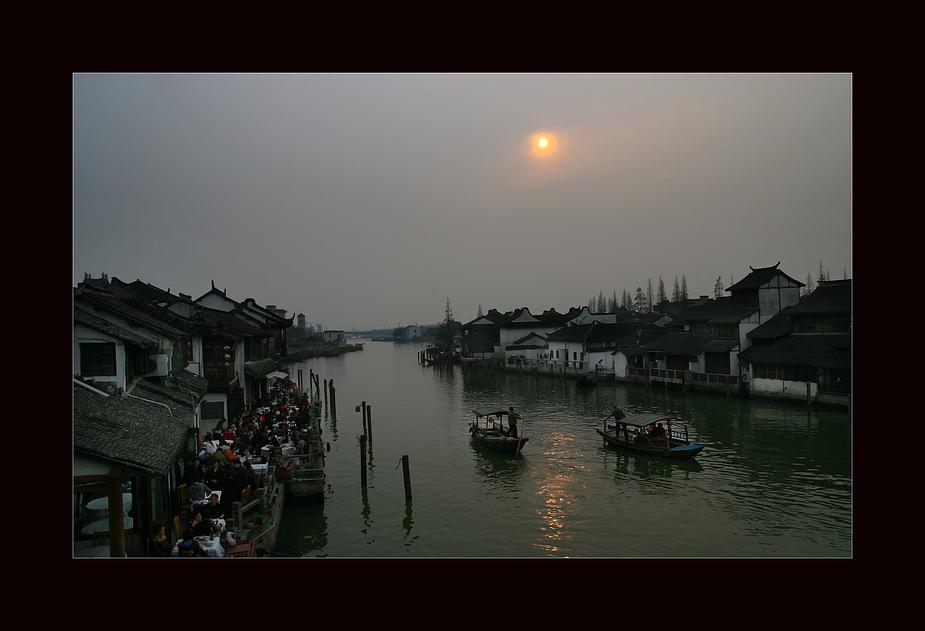 Smog über Suzhou