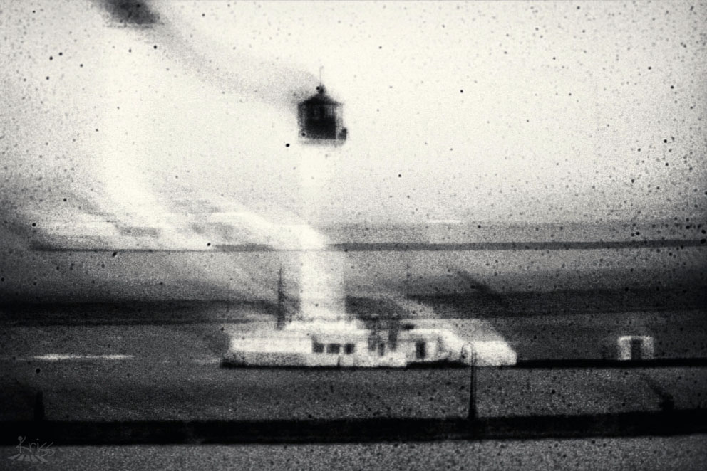 Smoke outside the lighthouse