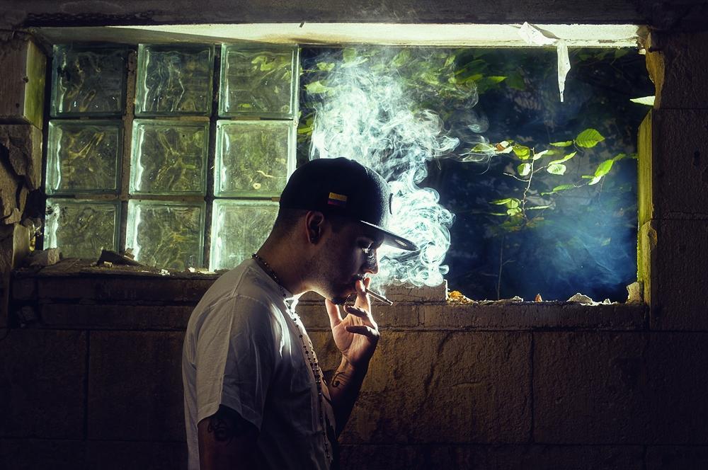 ... smoking ...