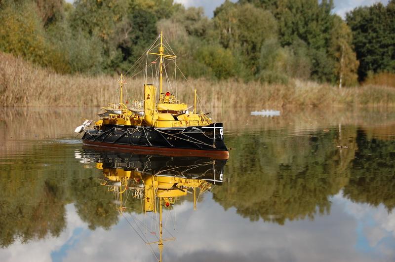 SMS Beowulf auf Mahlower Gewässern