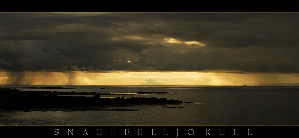 Snaefellsjökull Sonnenuntergang