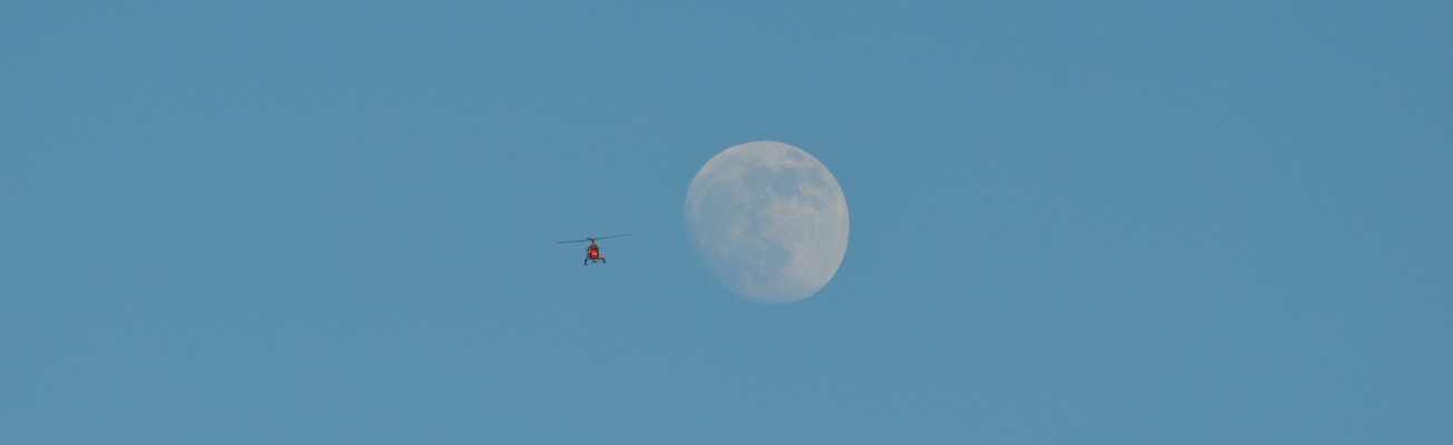 Snapshot Helikopter kommt entgegen