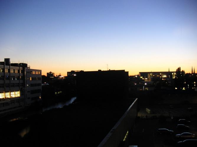Snapshot: Sunset over Hamburg