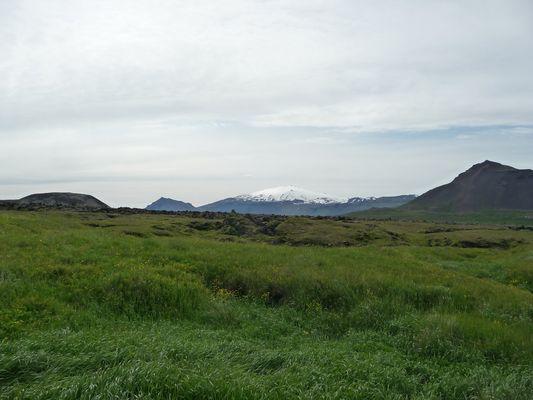 Snæfellsjökull in Sicht im Juni 2009
