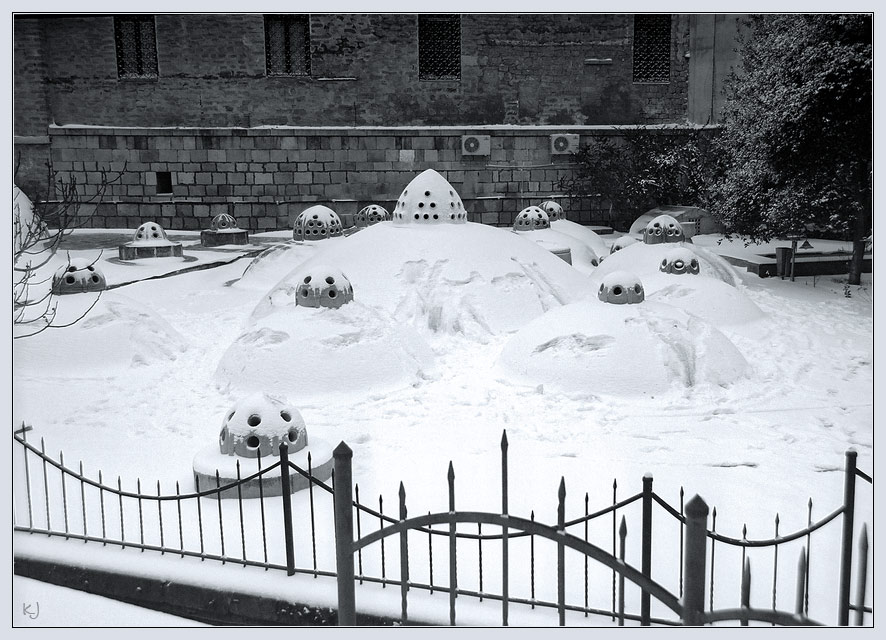 Snow domes are watching you