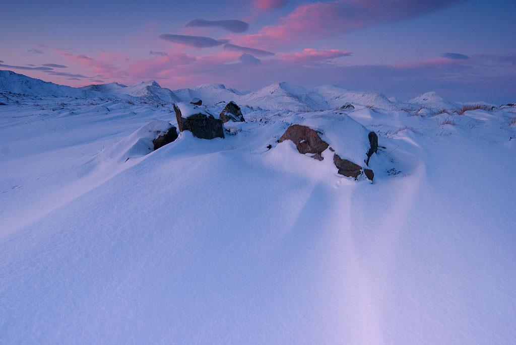 Snow dunes, Glen Coe, Scotland
