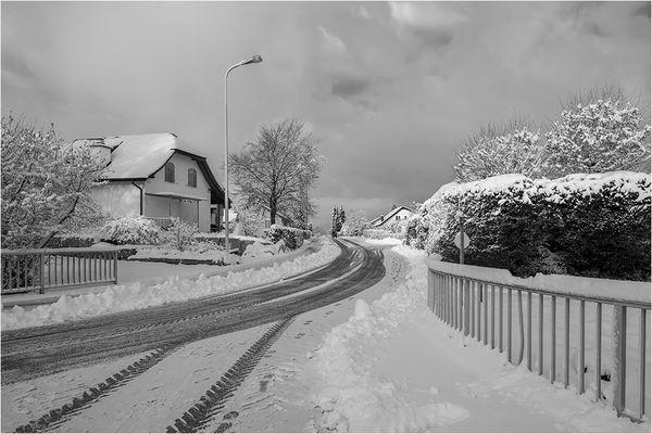Snow has fallen...