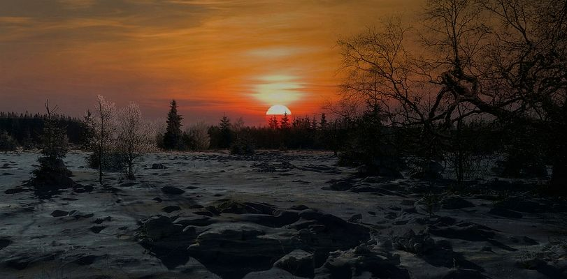Snow paradise (9) : the sunset
