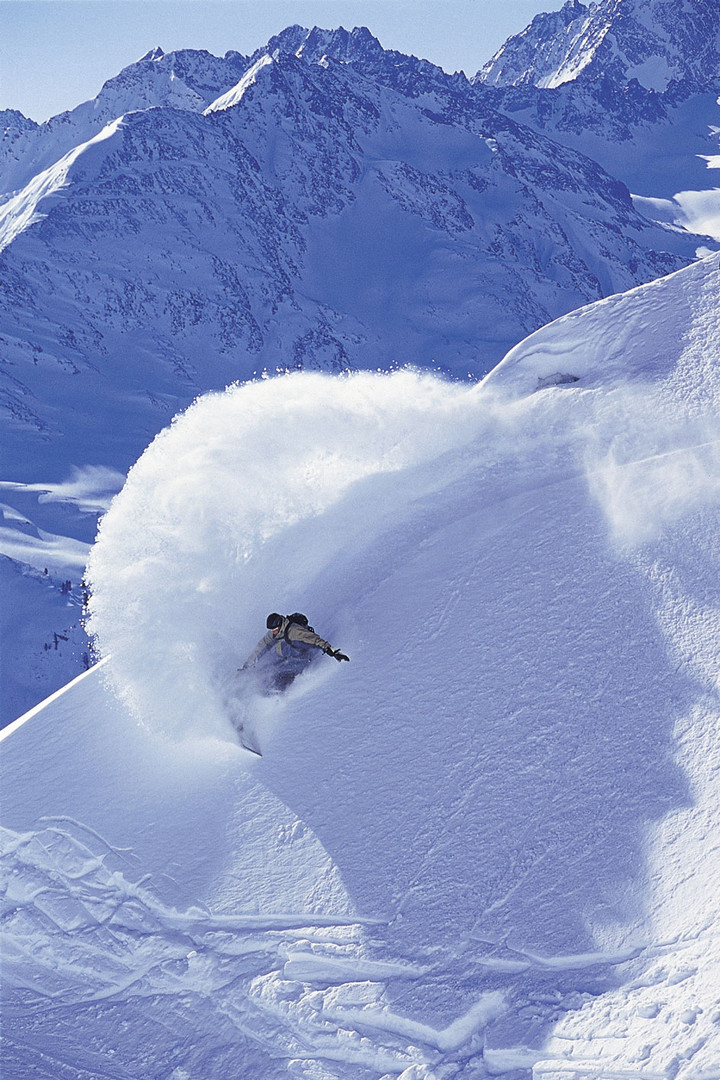 Snowboarden am Arlberg