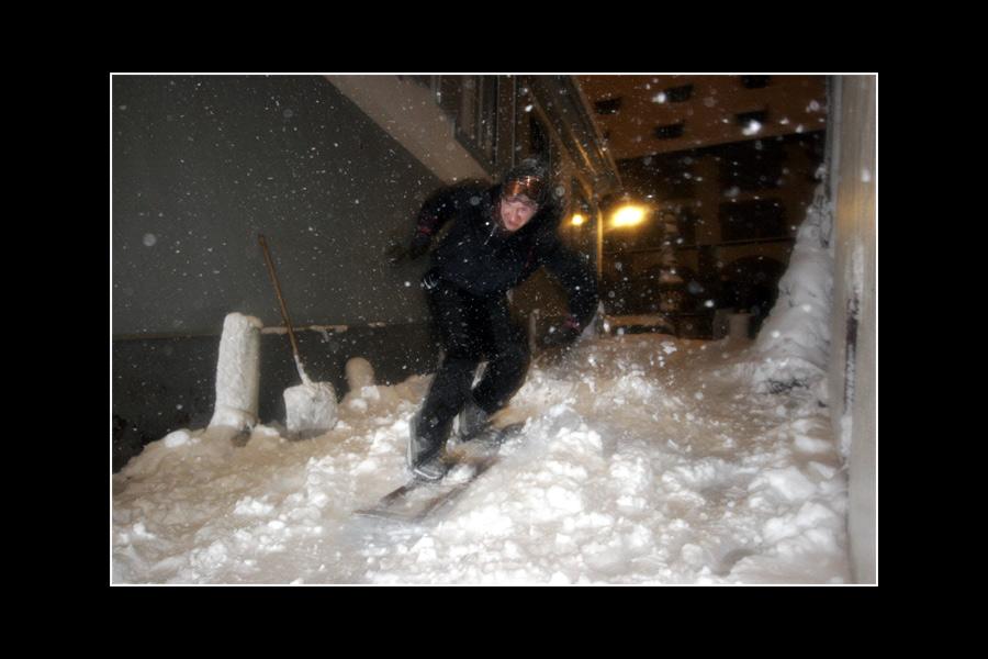 Snowboarding auf dem Münsterberg!