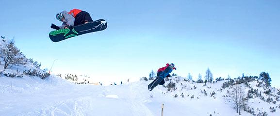 Snowboardpark in den Obertauern