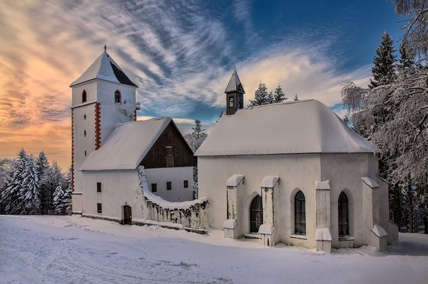 Snowed in church