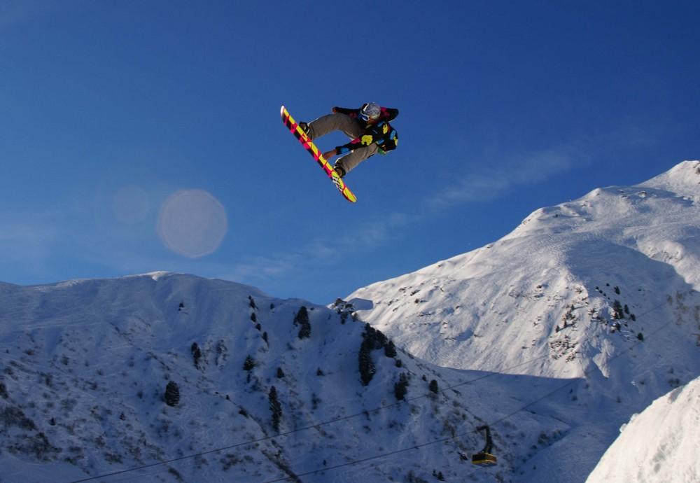Snowjumper im Funpark