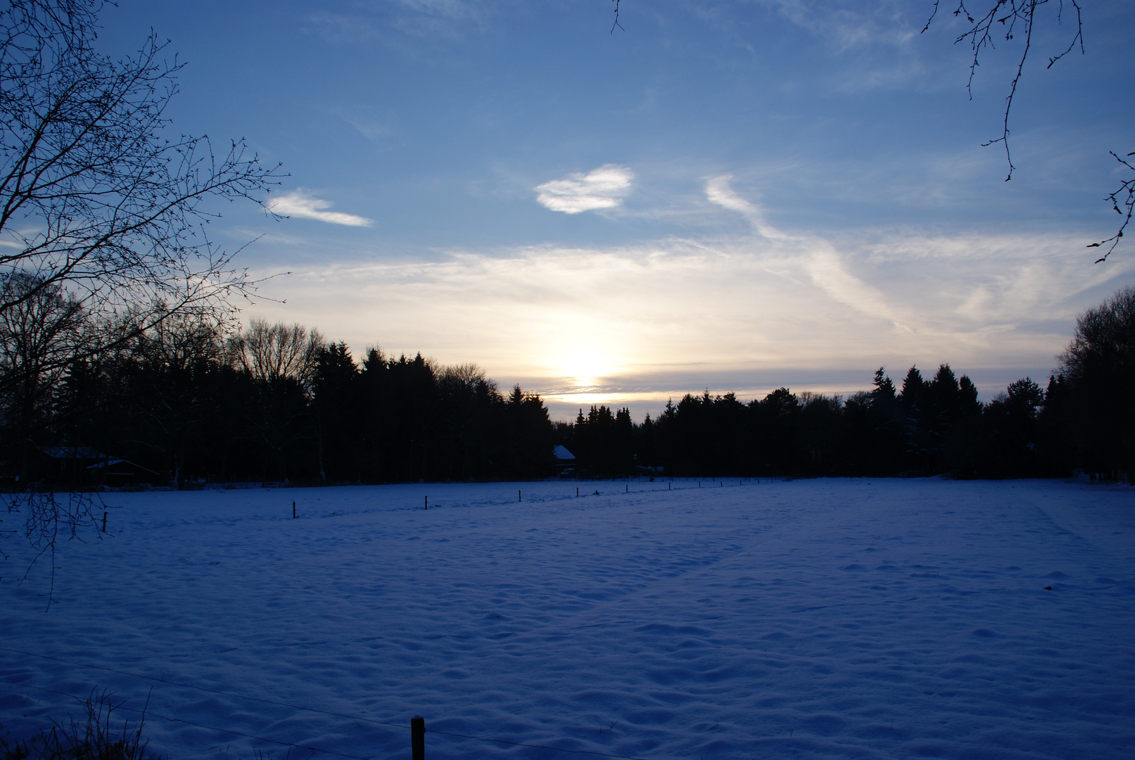 snowy dreams in northern germany