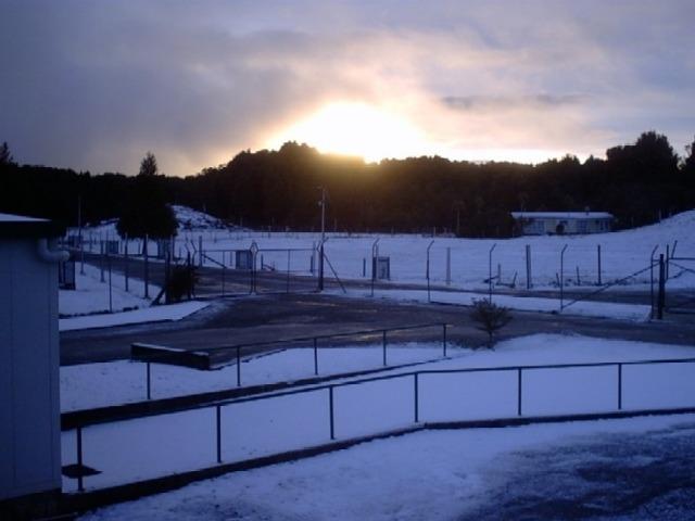 snowy hills around rotorua