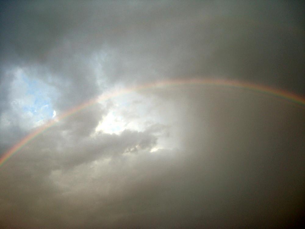 So einen schönen, grossen Regenbogen habe ich lange nicht gesehen