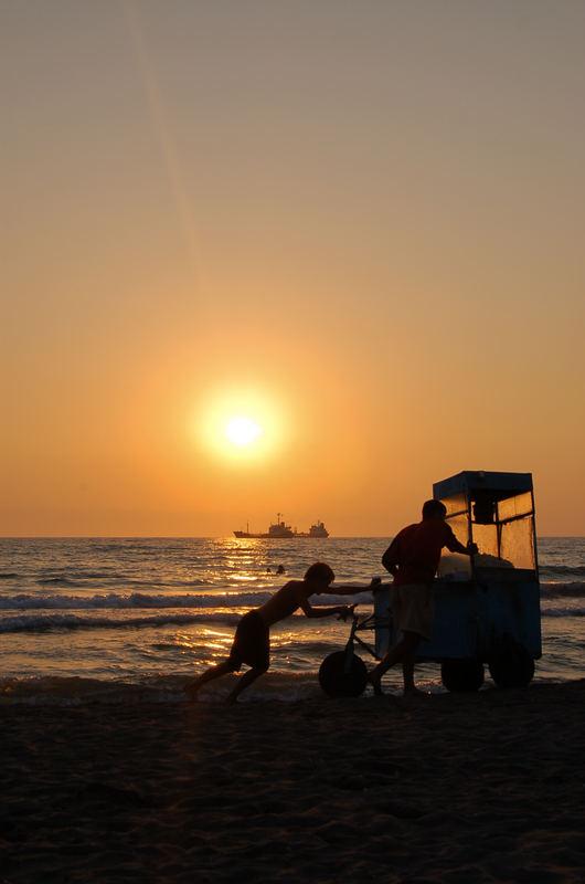 So endet der Tag am Strand...