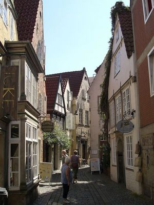 "so genannte ""Katzengasse"" in Bremen"