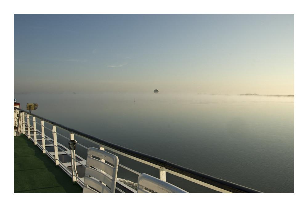So sah die Donau morgens um halb sechs im Oktober aus