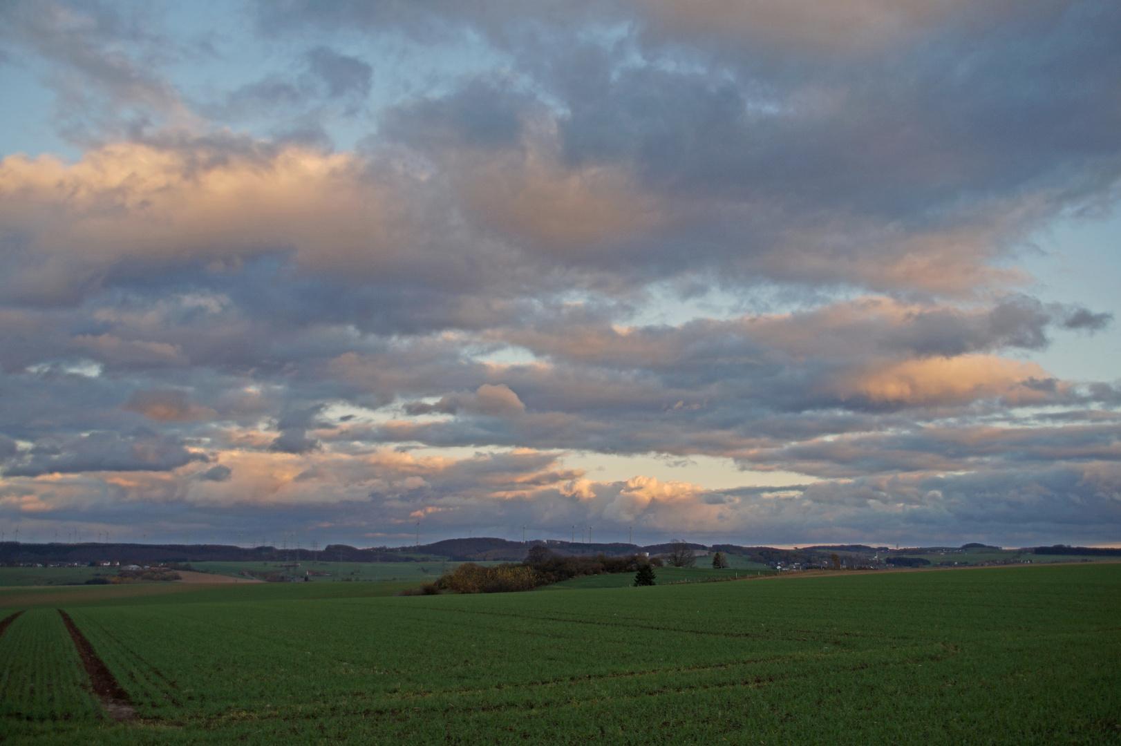 So sah gestern der Himmel aus.....