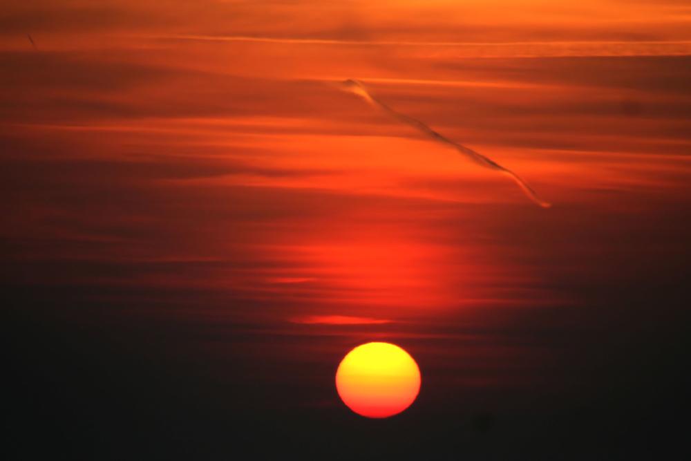 So schön kann die Sonne an der Nordsee untergehen