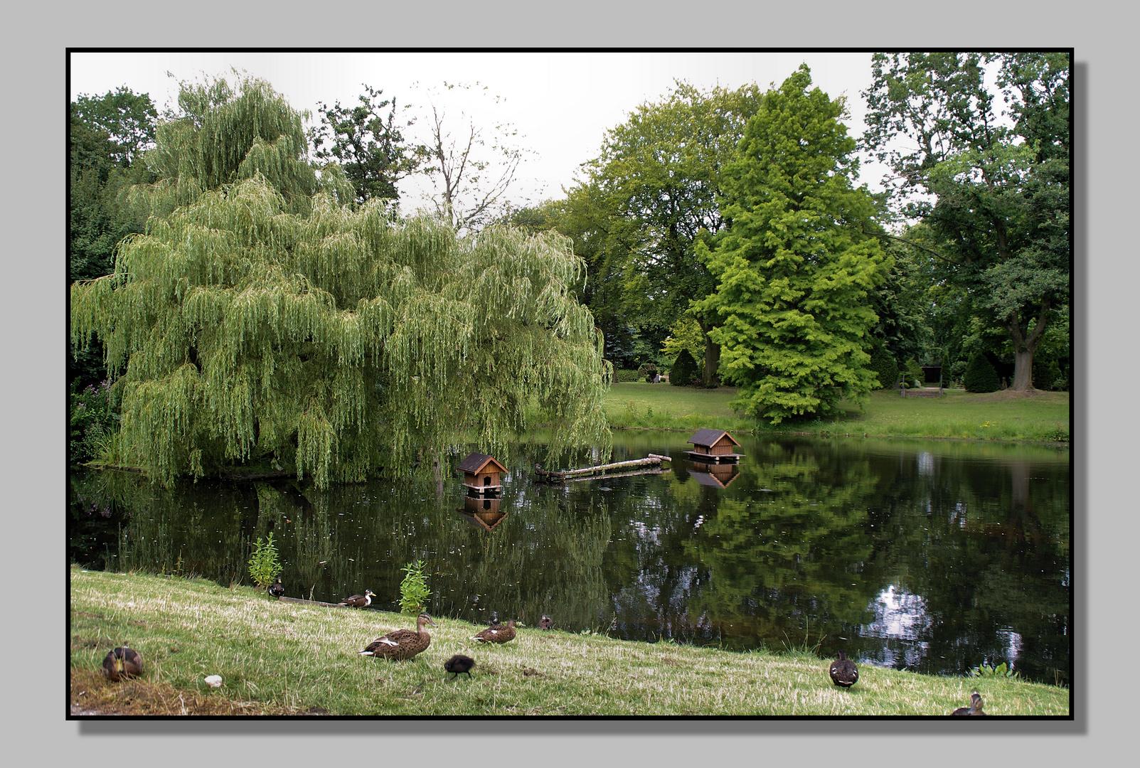 So schöne Teichanlage