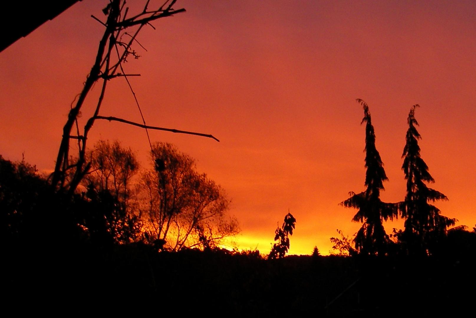 So sieht bei uns der Novembersonnenaufgang aus.
