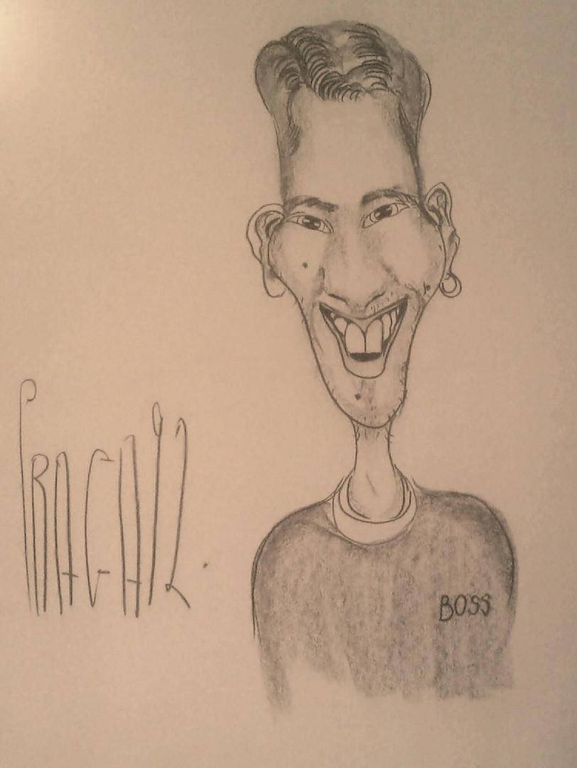 So soll ich vor 21 Jahren ausgesehen haben - zumindest in den Augen des tschechischen Zeichners.