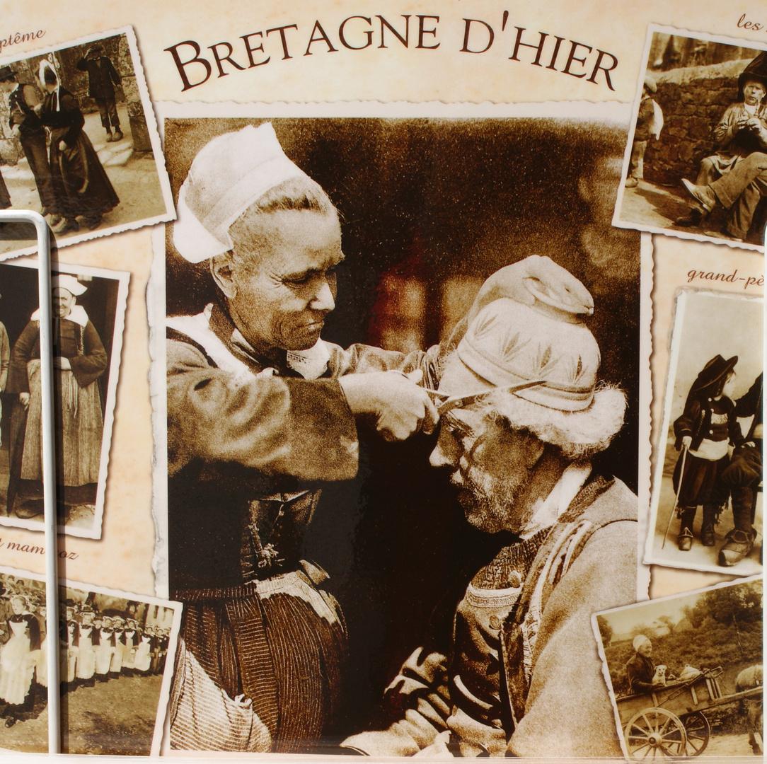 So spart man sich den Friseur. Nostalgische Karte zu kaufen in Saint Malo