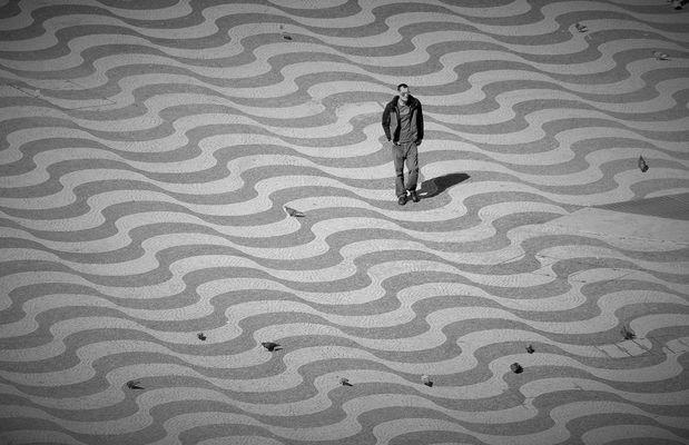 sobre las olas en Lisboa 2