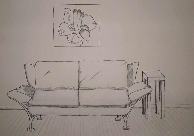 Sofa gezeichnet  Sofa Foto & Bild | kunstfotografie & kultur, gemälde & skulpturen ...